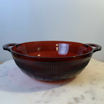 Anchor Hocking Ruby Red Depression Glass Coronation Serving Bowl - $19.99