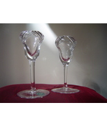 Lenox Crystal Candlesticks Pair Glass Candle Sticks  - $14.00