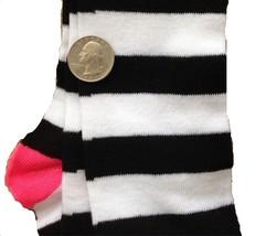 Pink-BLACK WHITE STRIPE KNEE CALF SOCKS-Rag Doll Witch Novelty Costume A... - $3.93
