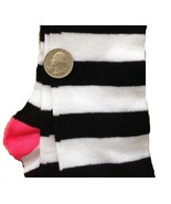 Pink-BLACK WHITE STRIPE KNEE CALF SOCKS-Rag Doll Witch Novelty Costume A... - $3.93