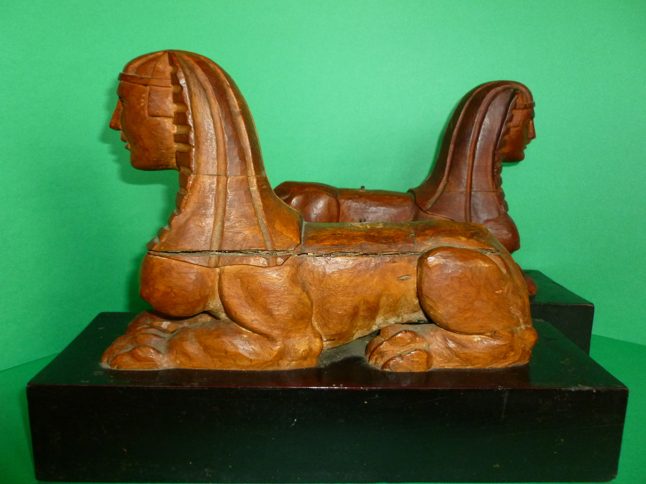 Antique Wooden Sphinx  Figures on Drawers Neo Classic Empire European Style