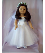 American Girl Clothes-Handmade First Communion Dress for American Girl Doll - $40.00
