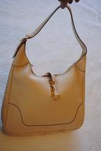 Hermes Trim II Handbag - cream color - $749.00