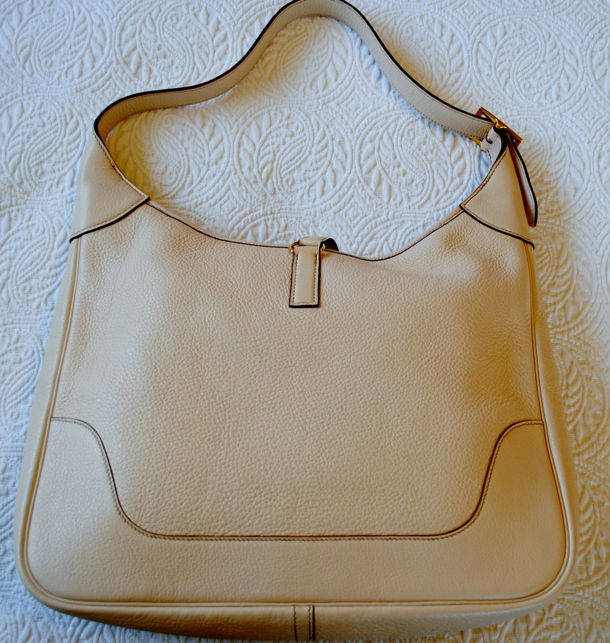 Hermes Baby Gifts Uk : Hermes trim ii handbag cream color women s handbags bags