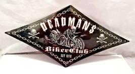 "36"" concept biker skulls deadman 1970s bike diamond USA STEEL plate display Sign - $122.50"