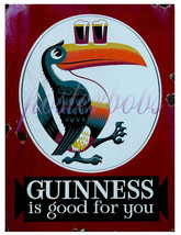 """Guinness is Good For You"" Vintage 13 x 10 in Giclee CANVAS Advert Print - $19.95"