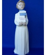 LLADRO NAO FIGURINE STUDENT w/BOOKS Retired!  - $65.00