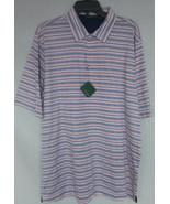 Mens Bobby Jones BJM23005 Run On Stripe Golfing Polo White Striped M L XL - $39.99