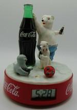 Coca Cola Alarm Clock Featuring Polar Bear and Seal in orig. box c1999 - $23.33