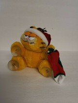 Vintage Garfield Christmas Plush Window Cling Suction Cup 1981 EUC - $18.59