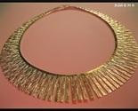 "CLEOPATRA Italian GOLD VERMEIL on STERLING Silver Lunula Tagliata 16"" NECKLACE"