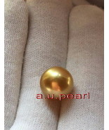 Australia Top REAL perfect round golden 12-13 MM LOOSE SOUTH SEA PEARL p... - $485.80