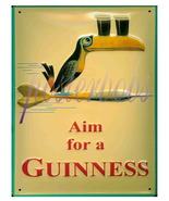 Aim For A Guinness (Simulated) 3D 13 x 10 inchCANVAS Giclee Poster Print - $19.95