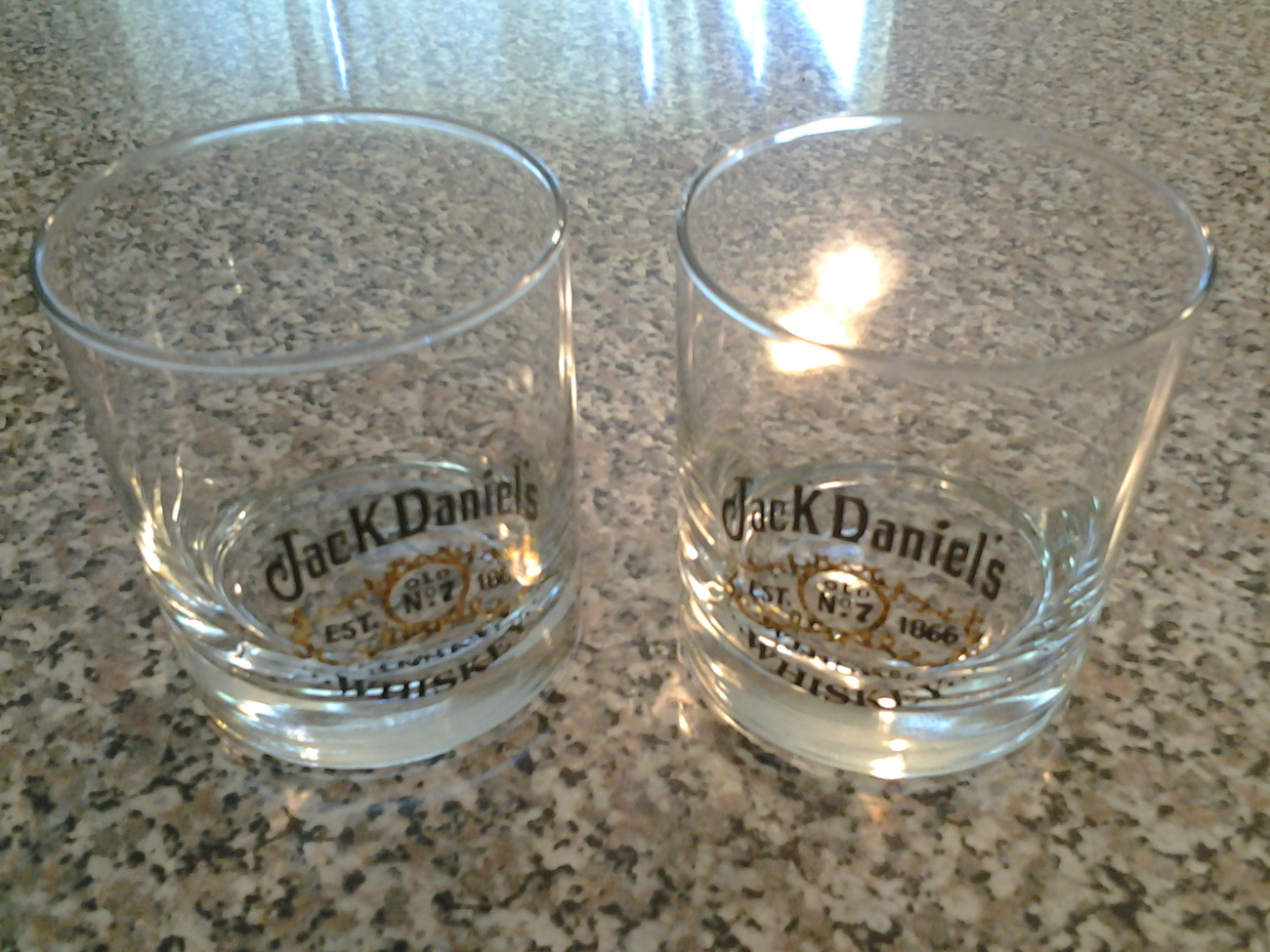 Primary image for Jack Daniel's Old No 7 Tennessee (2) Whiskey Rock Glasses Vintage Excellent