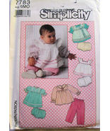 Infant Baby Girls Sundress Apron Pants Top 6 Mths 7783 - $5.99