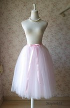 PALE PINK Midi Length Tulle Skirt Baby Shower Tulle Skirts Pink Petticoat NWT