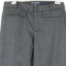 Banana Republic 6 Martin Fit Stretch Wide Leg Trousers Dress Pants Black... - $29.65