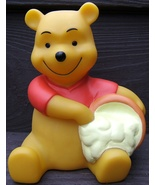 Disney Winnie The Pooh Paw in Hunny Honey Pot Hard Rubber Coin Bank Vint... - $69.98