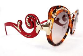 PRADA Women's Sunglasses PR07TS SPOT Tortoise/Red Acetate MADE IN ITALY ... - $295.00