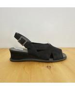 36 / 6 US - Arche LN Black Nubuck Leather Slingback Low Heel Sandals 1220MM - $30.00