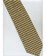 "Handmade Extra Long 64"" BELLO UOMO Tie ~ Yellow, Brown ~ Polka Dots Patt... - $19.00"