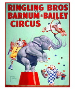 Ringling Bros. and Barnum & Bailey Circus 13 x 10 inch CANVAS Giclee Print - $19.95