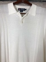Chaps Golf Ralph Lauren Mens Sweater Rugby Pullover Ivory Size XL - $14.95