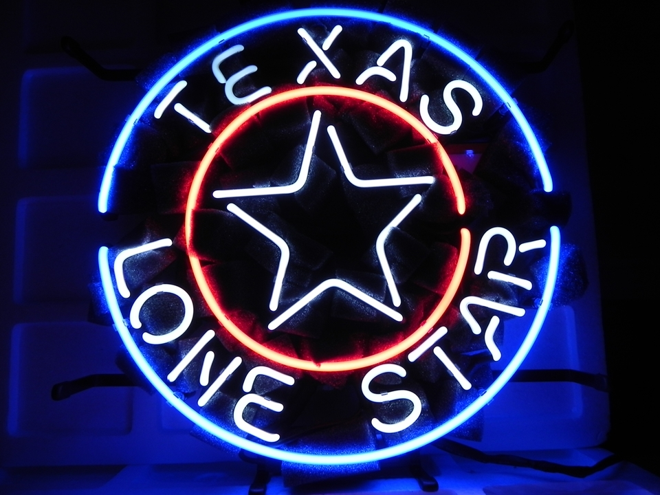 "Texas Lone Star Beer Bar Neon Sign 16\"" x 16\"" - Neon"