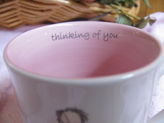 """CLAIRE STONER  """"THINKING OF YOU"""" CUP=NEW IN BOX= SIGNED"""