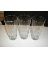 3 CRISTAL d'Arques J.G. Durand Villeneuve Barcelona Tumblers~~set of 3~~htf - $12.95