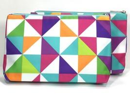 2pc Clinique Makeup Bag (White,Pink,Blue,Purple,Orange) - $4.98