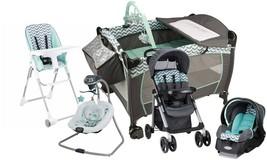 Baby Stroller Travel System with Car Seat Infant Playard Swing High Chair Set - $517.27