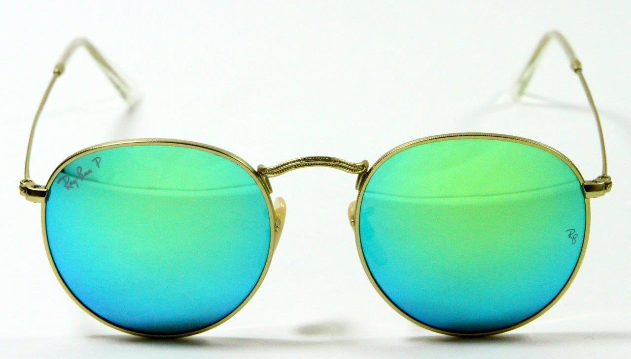 Primary image for Ray Ban 3447 112/P9 John Lennon Style Gold Polarized Sunglasses 50mm New Genuine