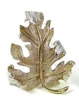 Vintage Silvertone Leaf Brooch By Sarah Coventry 6317 - $19.79