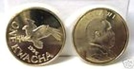 African Fish Eagle 1996 One Kwacha Brass Plated Steel Malawi Coin Unc - $11.99