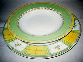 3-pc Mikasa ENGLISH ROSE Dinner plates Soup bowl SL-112 - $87.99