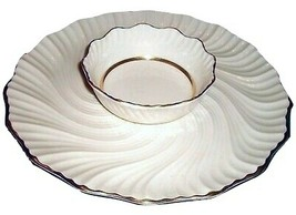 Lenox Chip And Dip Platter Gold Accents  RICHMOND SERVER GOLD 12 .5 INCH... - $74.24