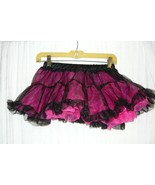 Pink And Black Sheer Tutu - Os - $10.00