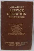Chevrolet Service Operations Time Schedule - $22.74