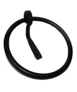 ROUND WROUGHT IRON TOWEL RING Primitive Colonial Kitchen Bath Amish Blac... - $26.70