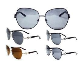 Round Oversized Sunglasses  Polarized  Womens Black Gold or Gunmetal Frames - $9.97