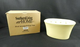 Southern Living at Home Oval Arrange-It-Easy Frog Vase Yellow Ceramic - $14.84