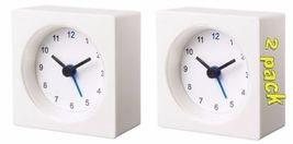 2 PACK NEW IKEA VACKIS WHITE ALARM CLOCK - $11.00