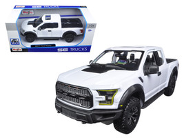 2017 Ford Raptor Pickup Truck White 1/24 Diecast Model Car by Maisto - $41.53