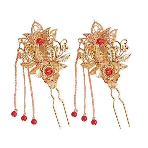 Elegant Wedding Hair Pins Gold Plated Style Alloy Material Hair Supplier