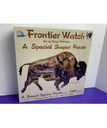 1000 Pc Shaped Puzzle Frontier Watch Greg Giordano Buffalo Eagle Native ... - $29.69