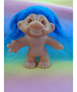 Vintage 1986 Dam Troll Doll Blue Hair - Nude - As Is - $5.45