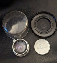 Ernst Leitz GmbH Wetzlar Summicron f=5cm 1:2 Nr 1586744 35mm Camera Lens in Case - $1,016.49
