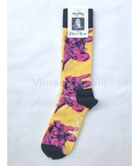 Happy Socks x Andy Warhol Mens Shoe 8-12 Yellow/ Pink Cow Pop Art Visual... - $16.99