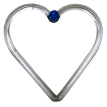 3.5 inch Glass Heart Decoration image 1